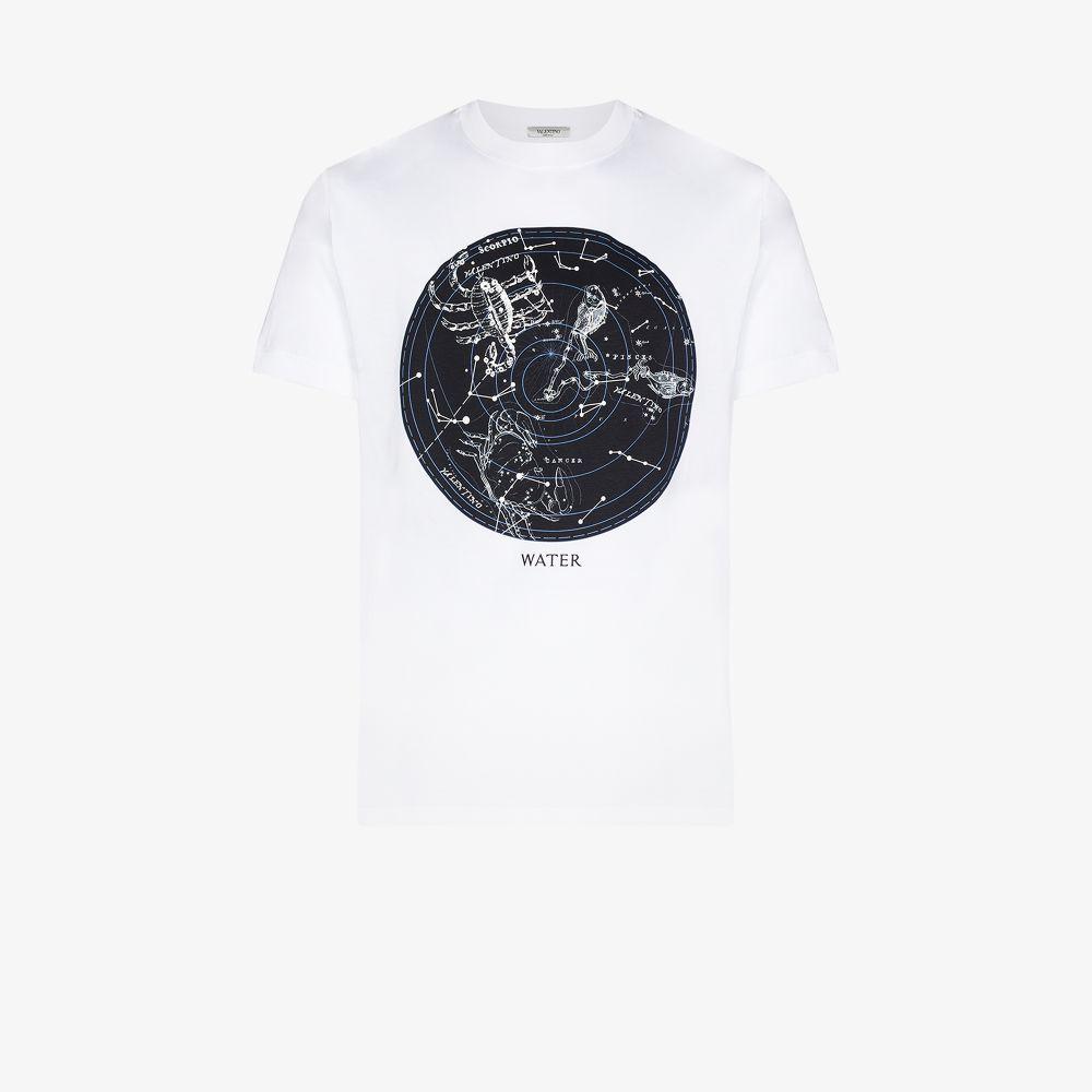 Valentino WHITE ZODIAC PRINTED T-SHIRT