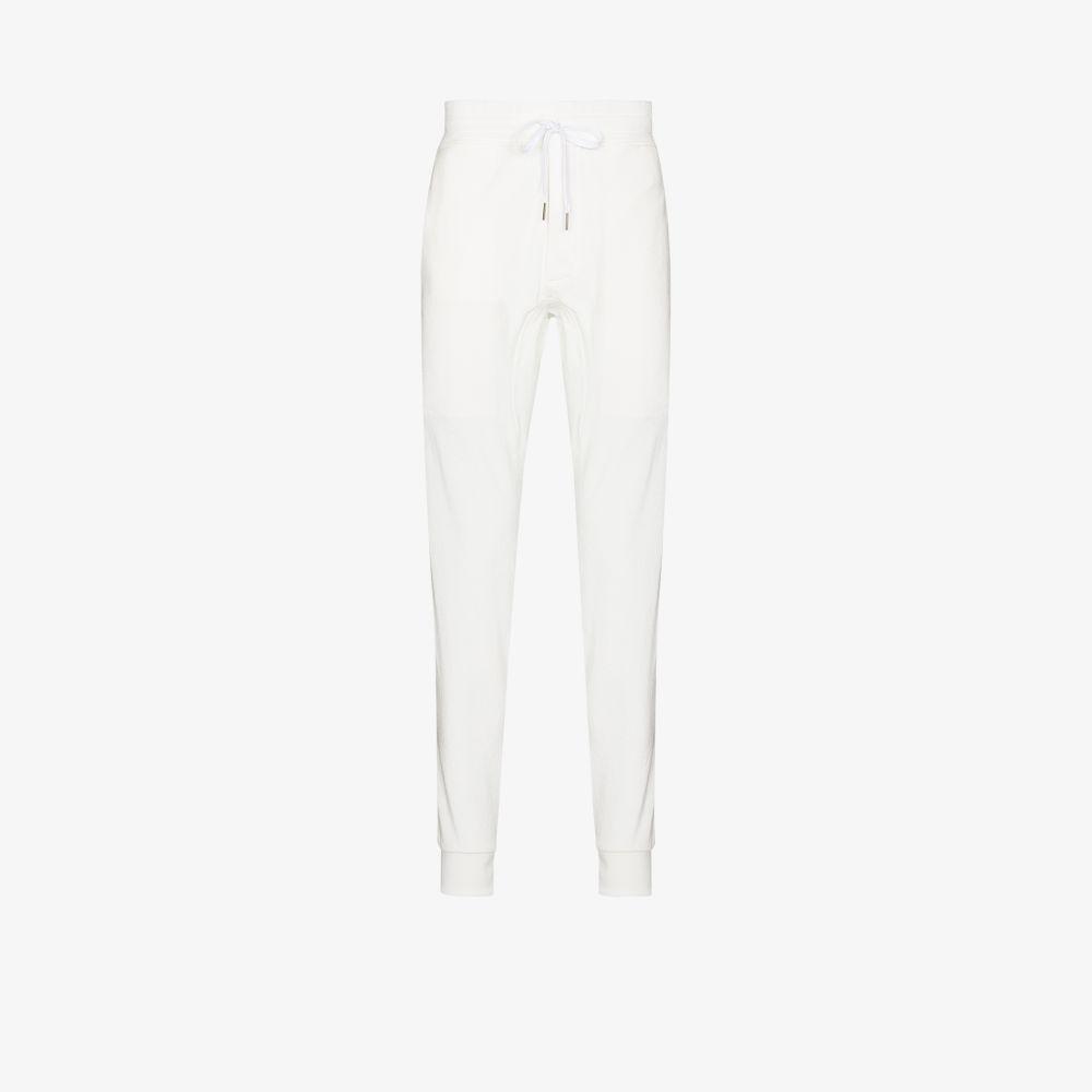 Tom Ford Track pants WHITE FLUID TRACK PANTS