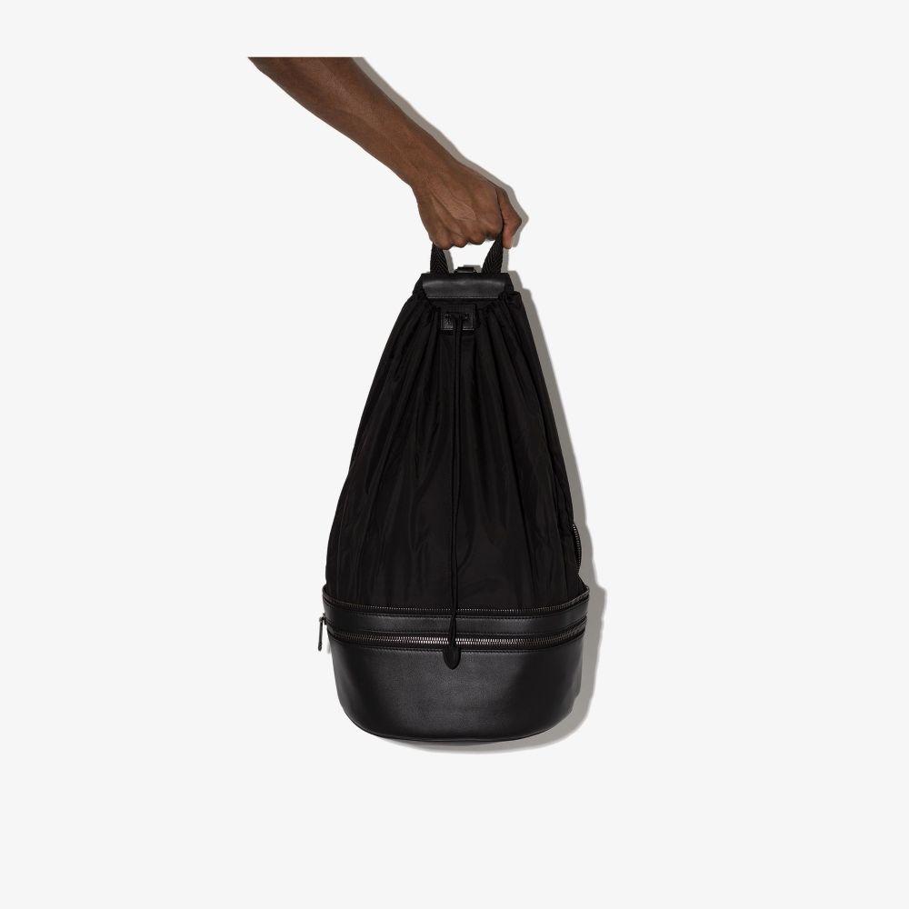 Ermenegildo Zegna Black Parachute Convertible Cross Body Bag