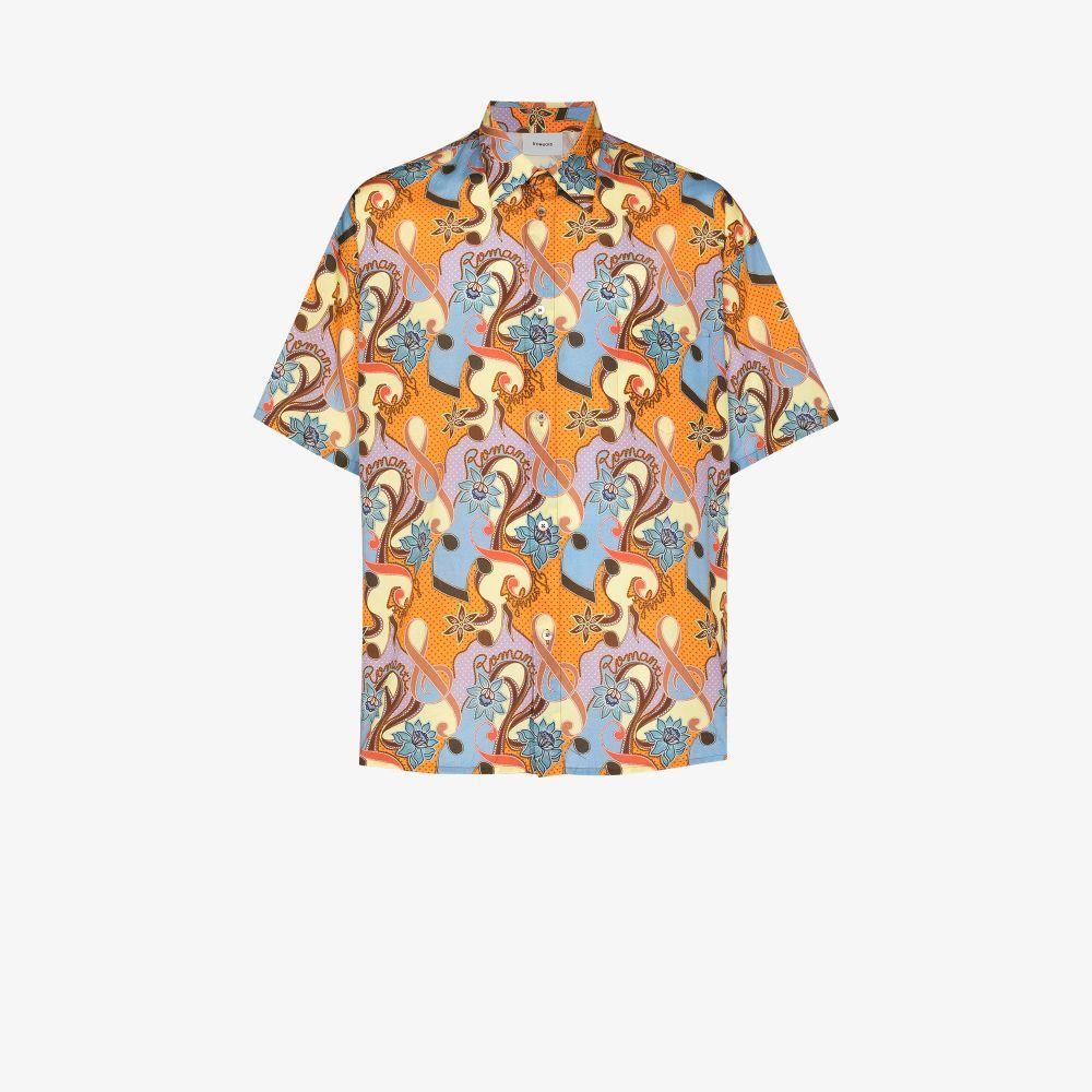 Romantic Print Short Sleeve Shirt