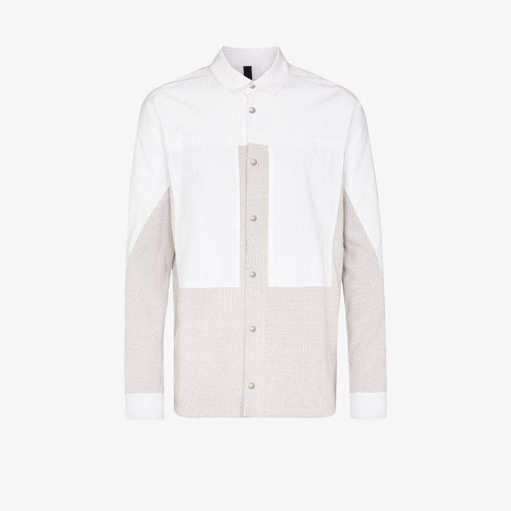 Neutral Panelled Cotton Overshirt