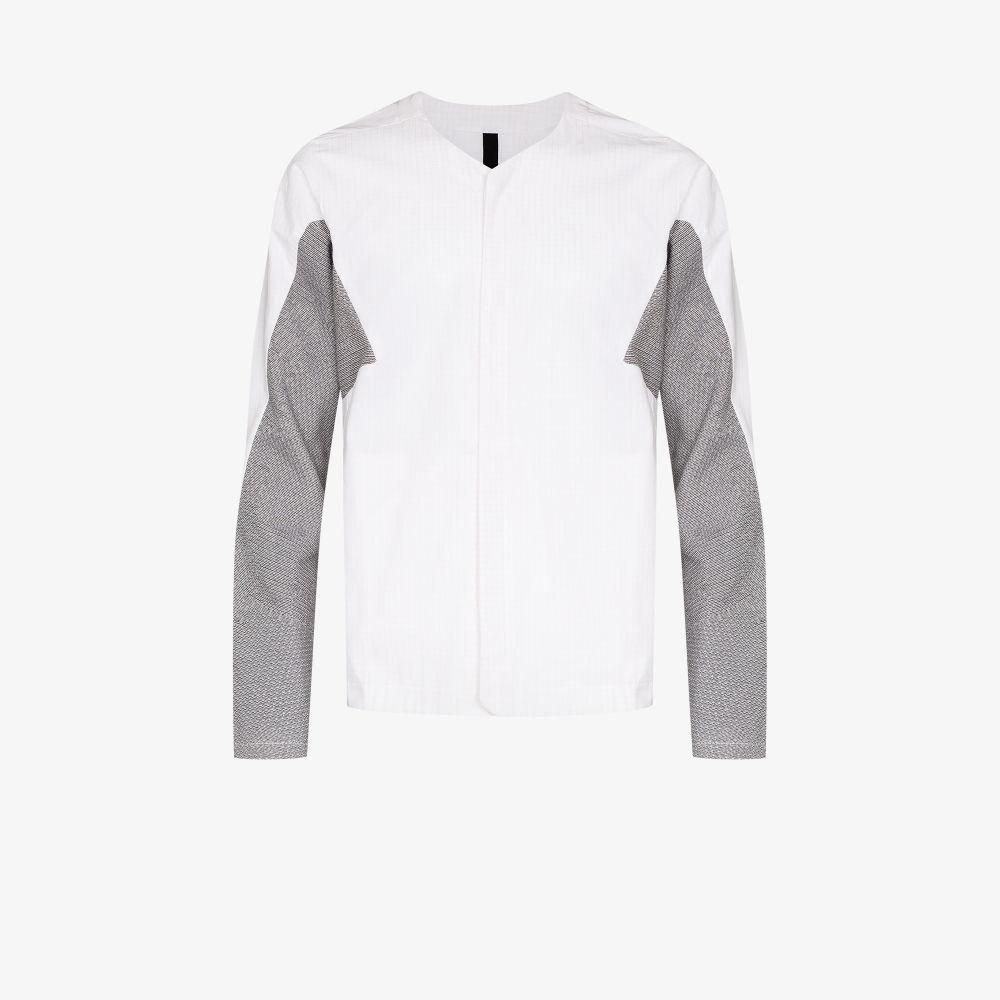White Weightmap Cardi Jacket