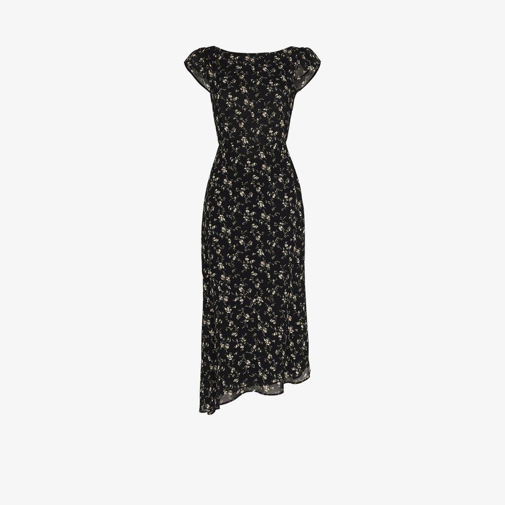 Reformation Dresses BLACK UNDERWOOD FLORAL PRINT DRESS