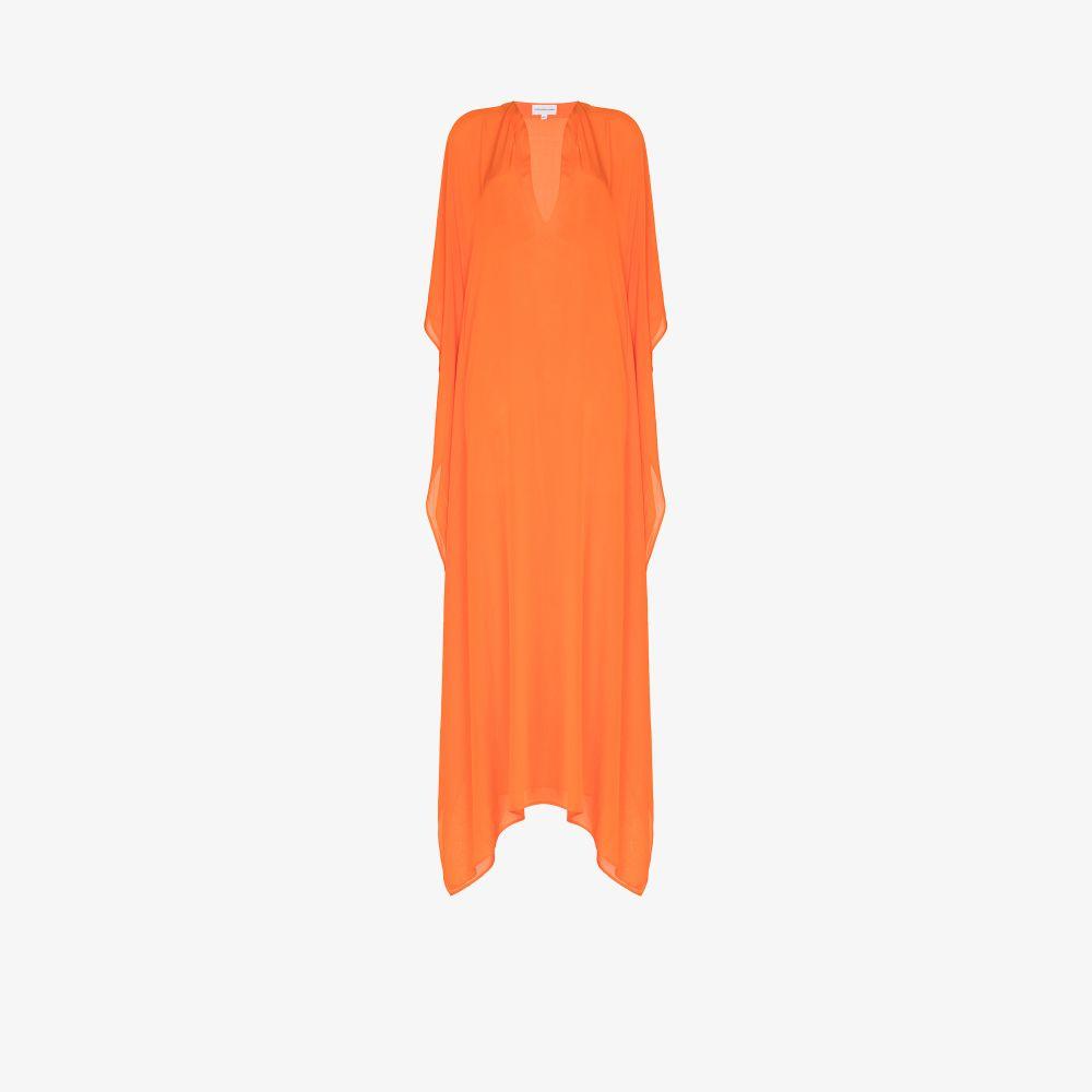 Roxanne Side Split Silk Kaftan Dress