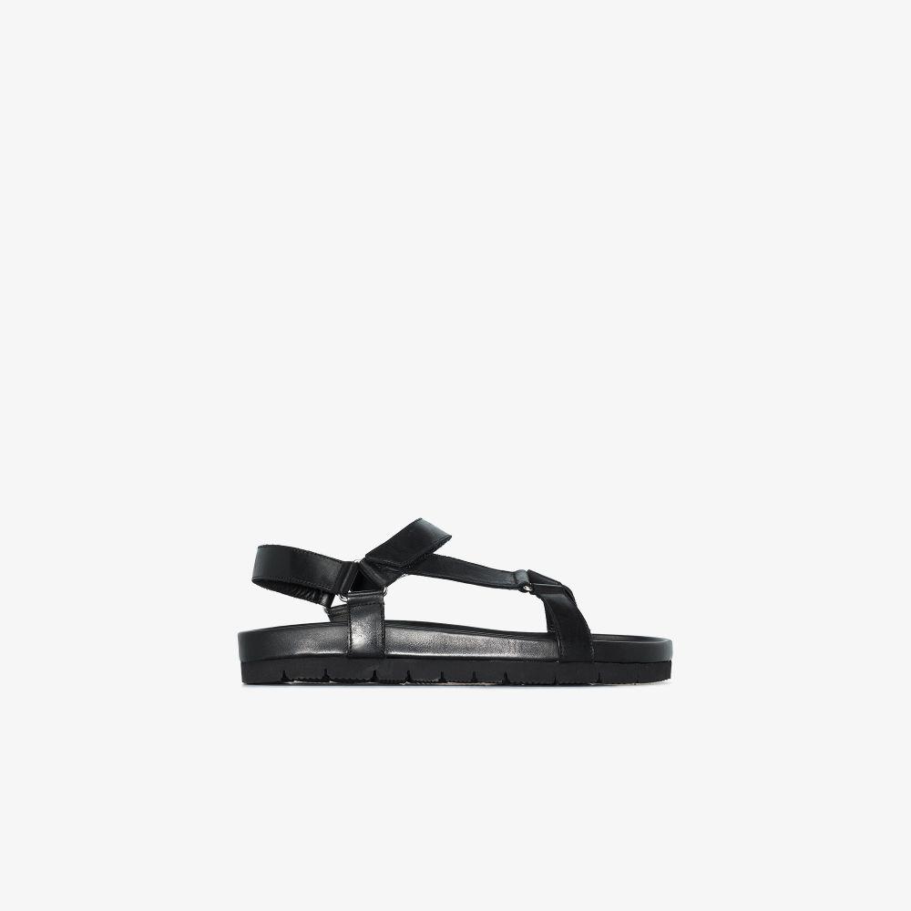Black Lyndon Leather Sandals
