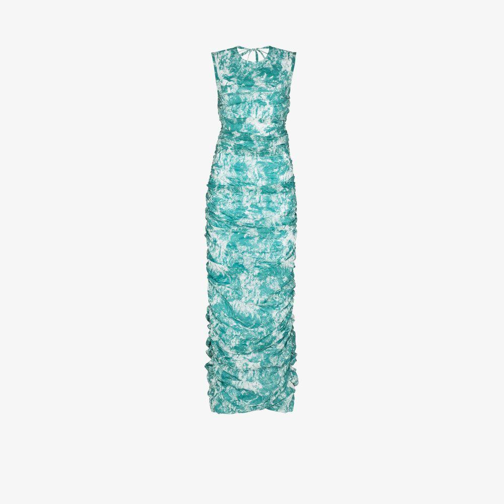 The Pleated Tie-Dye Maxi Dress