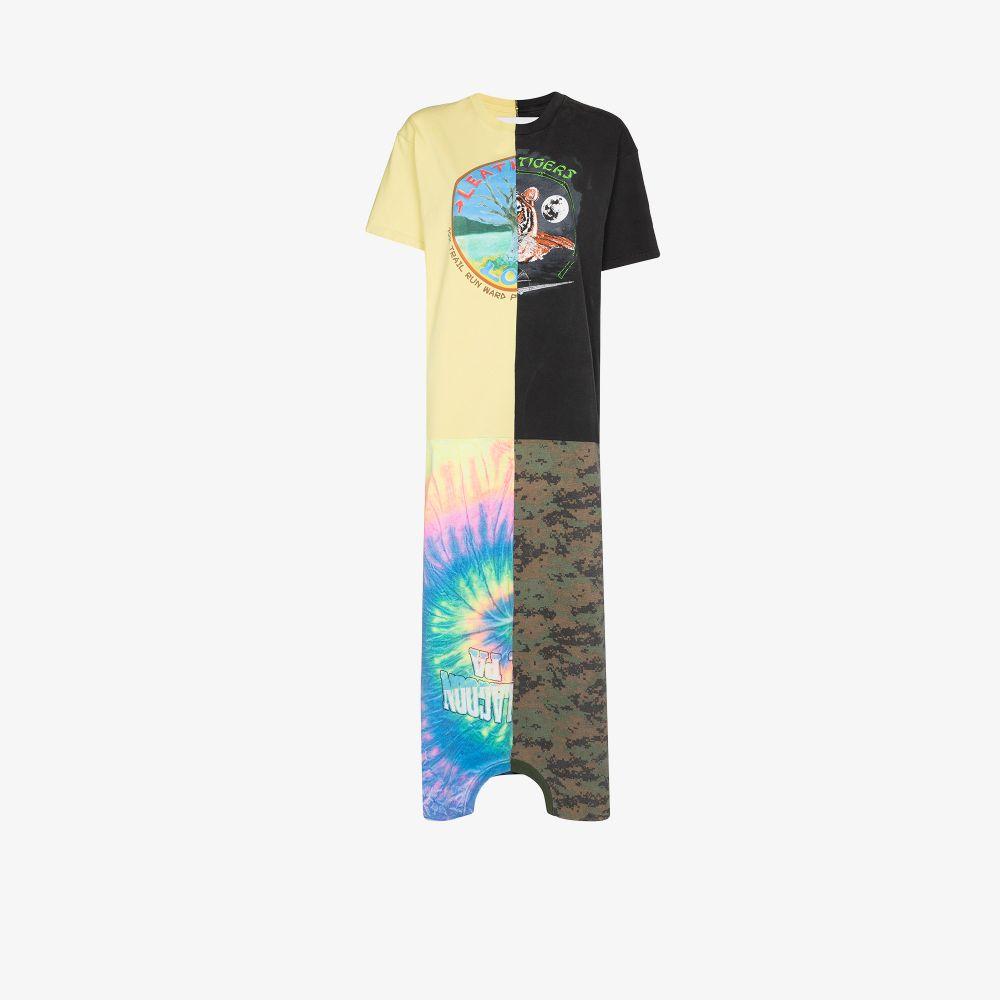 X Browns Focus Patchwork Print Maxi T-Shirt Dress