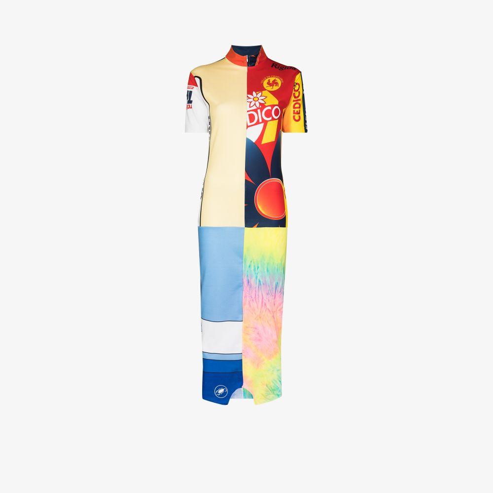 X Browns Focus Patchwork Print Midi Dress