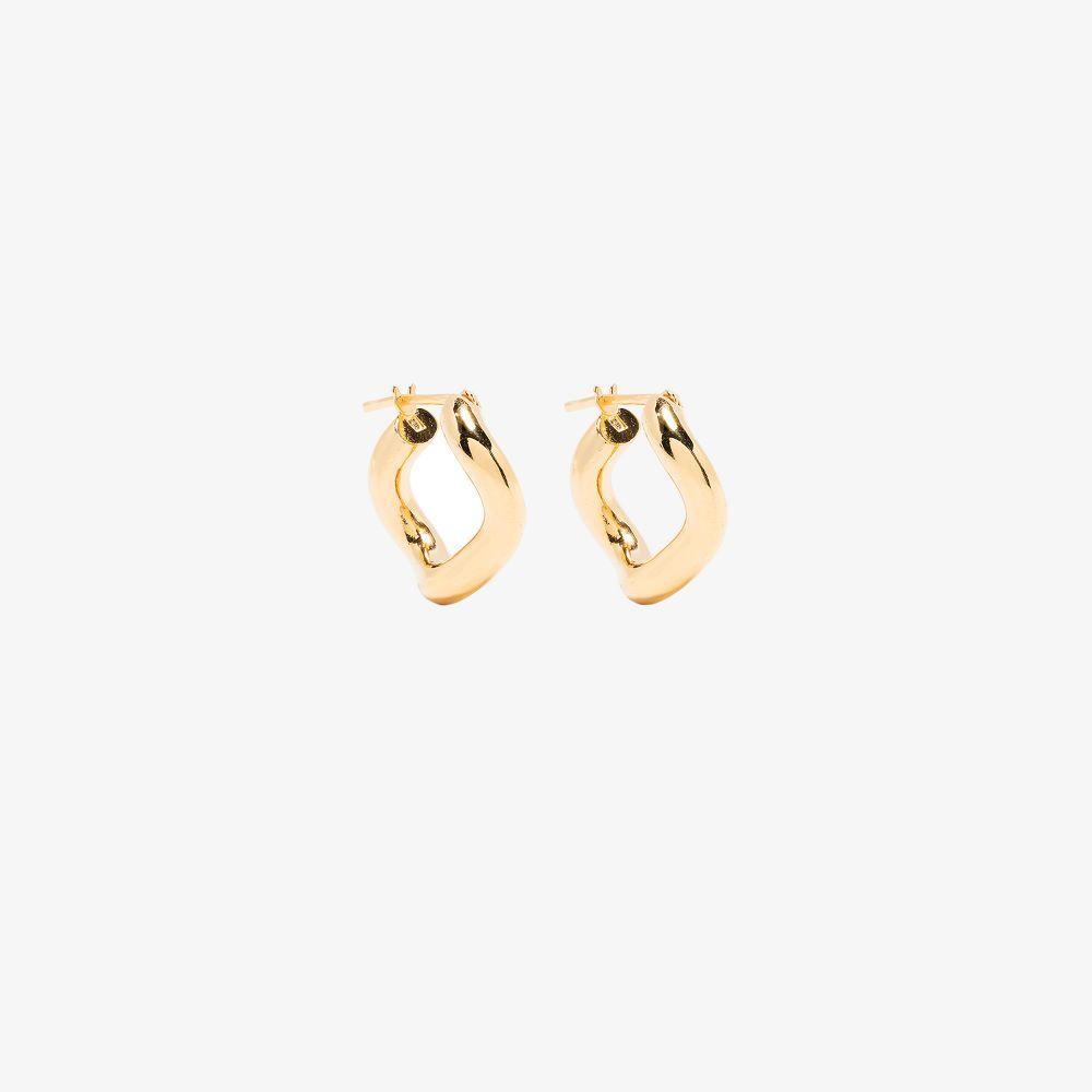 Charlotte Chesnais GOLD-PLATED WAVE HOOP EARRINGS