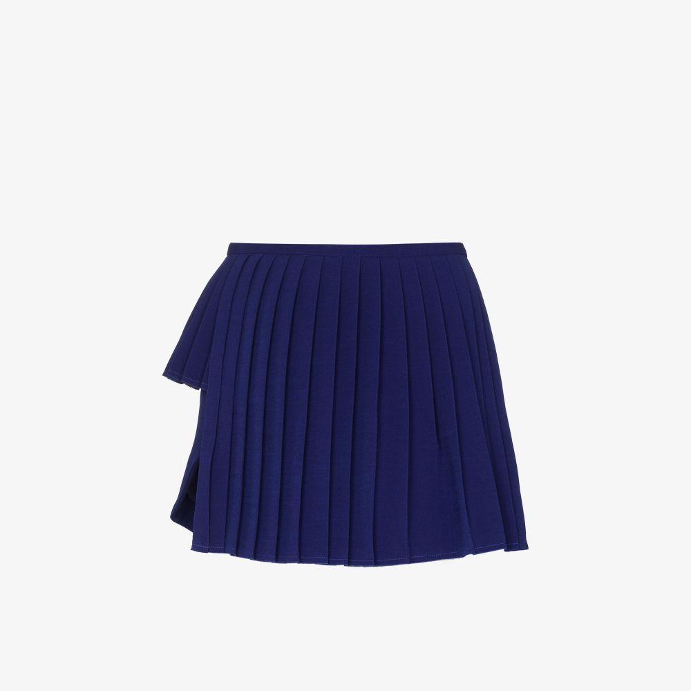 X Browns Focus Asymmetric Pleated Mini Skirt