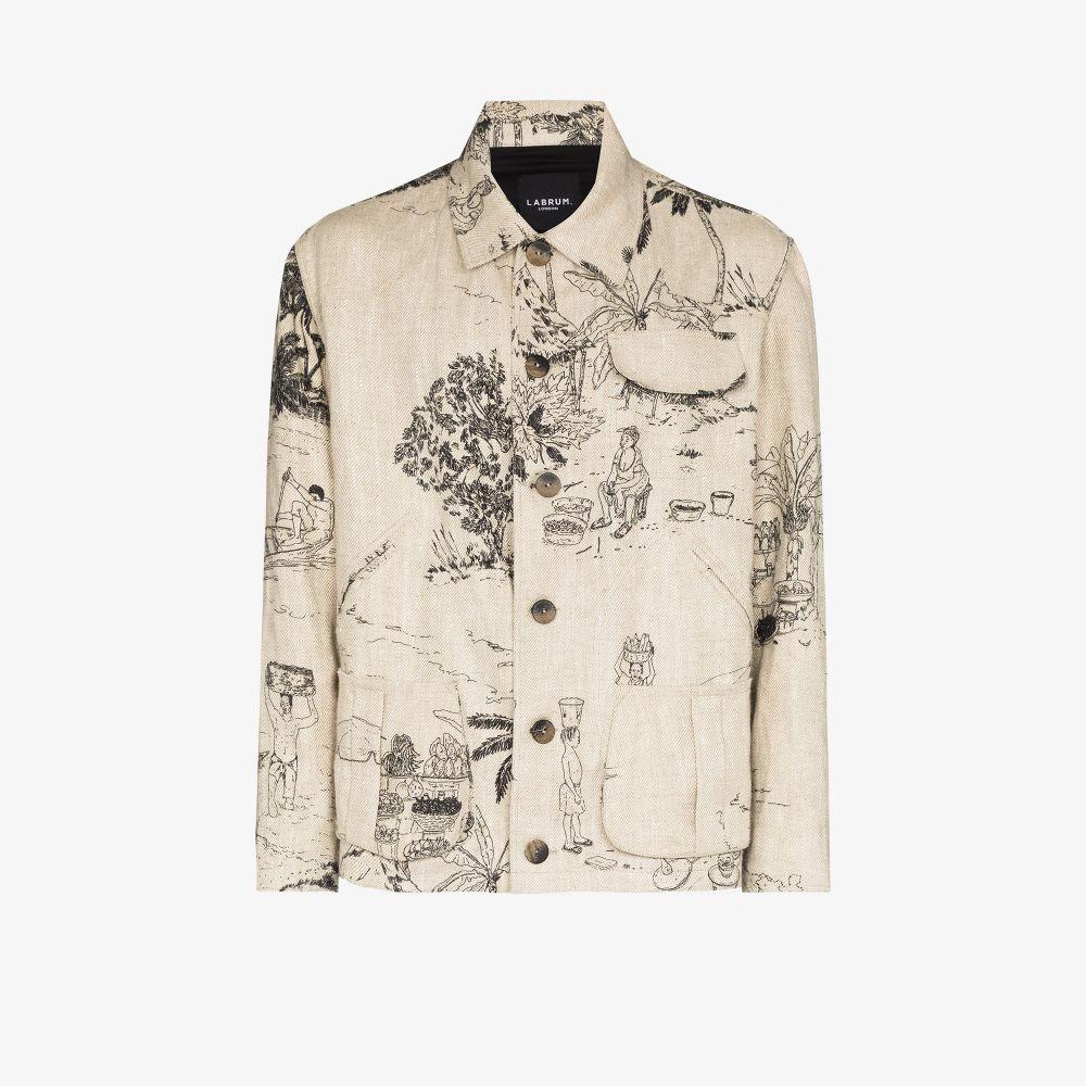 X Browns Focus Freetown Print Shirt Jacket