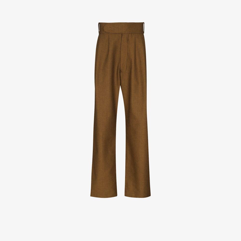 X Browns Focus Herringbone Cotton Trousers
