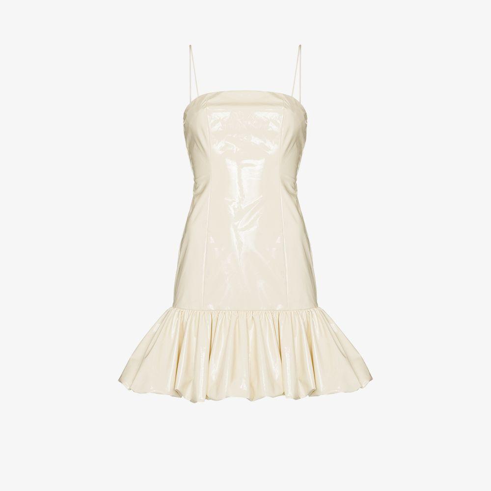 Rotate Clothing NEUTRALS ANITA FRILL HEM MINI DRESS