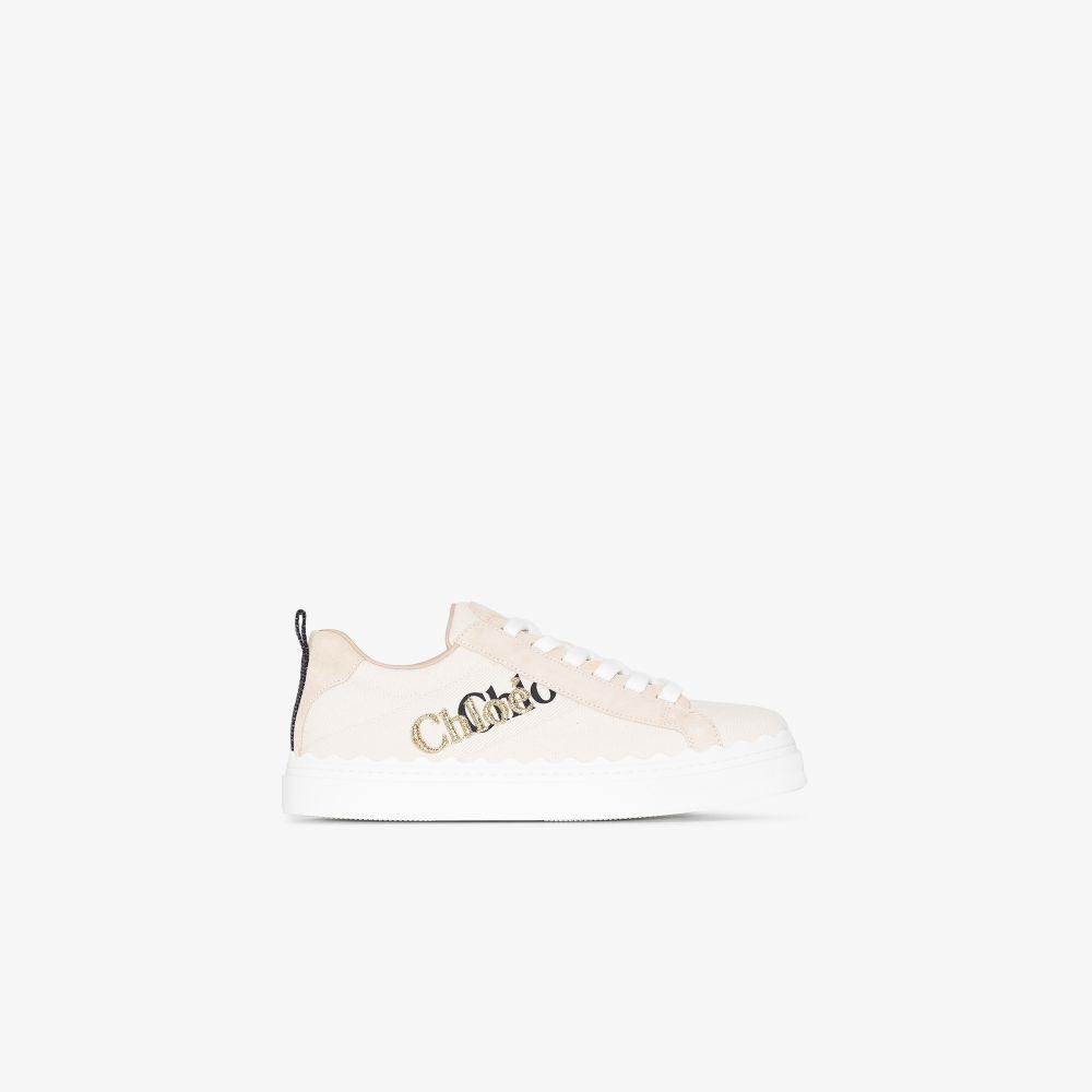Chloé Sneakers NEUTRALS NEUTRAL LAUREN LOGO SNEAKERS