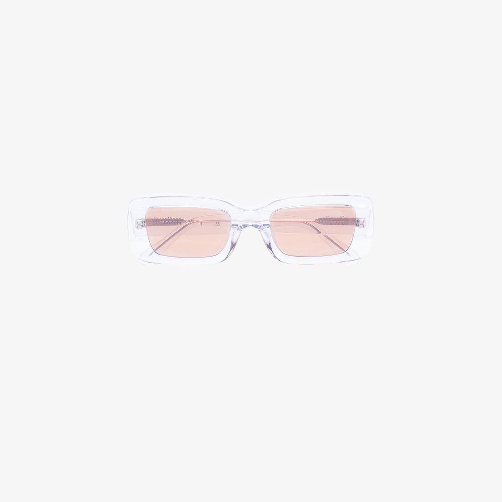 Clear Kenny Rectangular Sunglasses
