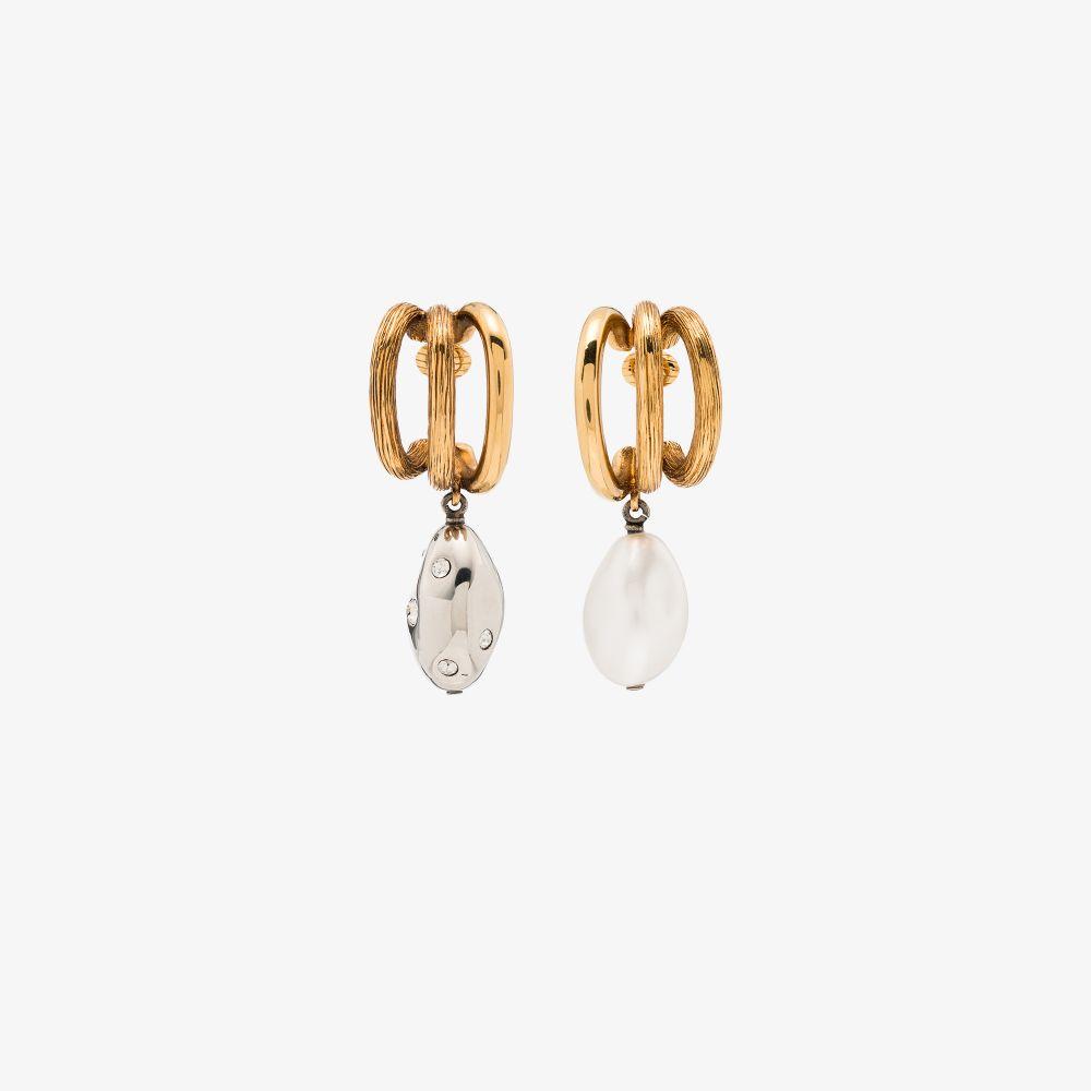 Chloé Earrings GOLD TONE TRIPLE HOOP EARRINGS
