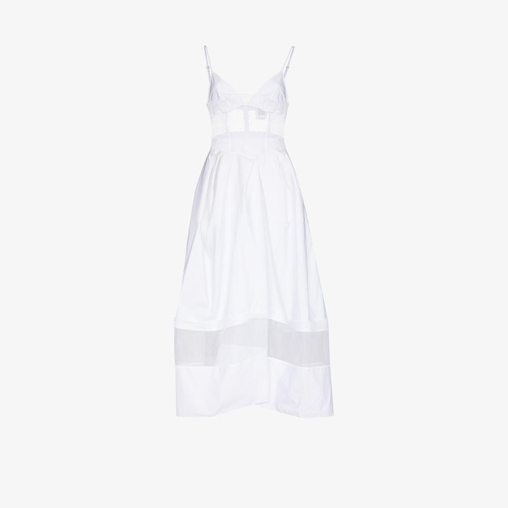 Rosie Assoulin Dresses WHITE TULLE PANEL DRESS