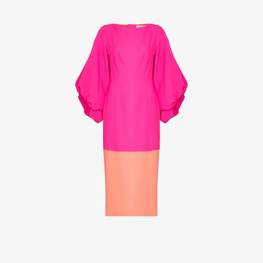 Roksanda Dresses PINK GARANCE TWO TONE POUF SLEEVE DRESS