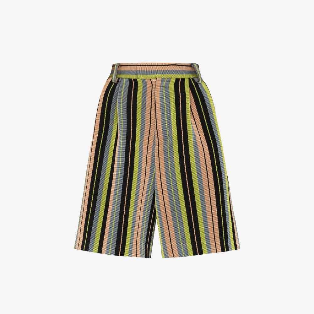 Striped Wide Leg Shorts