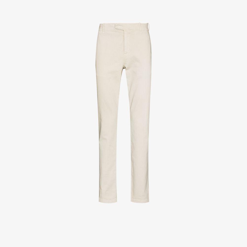 Eleventy Cottons NEUTRALS STRAIGHT LEG COTTON TROUSERS