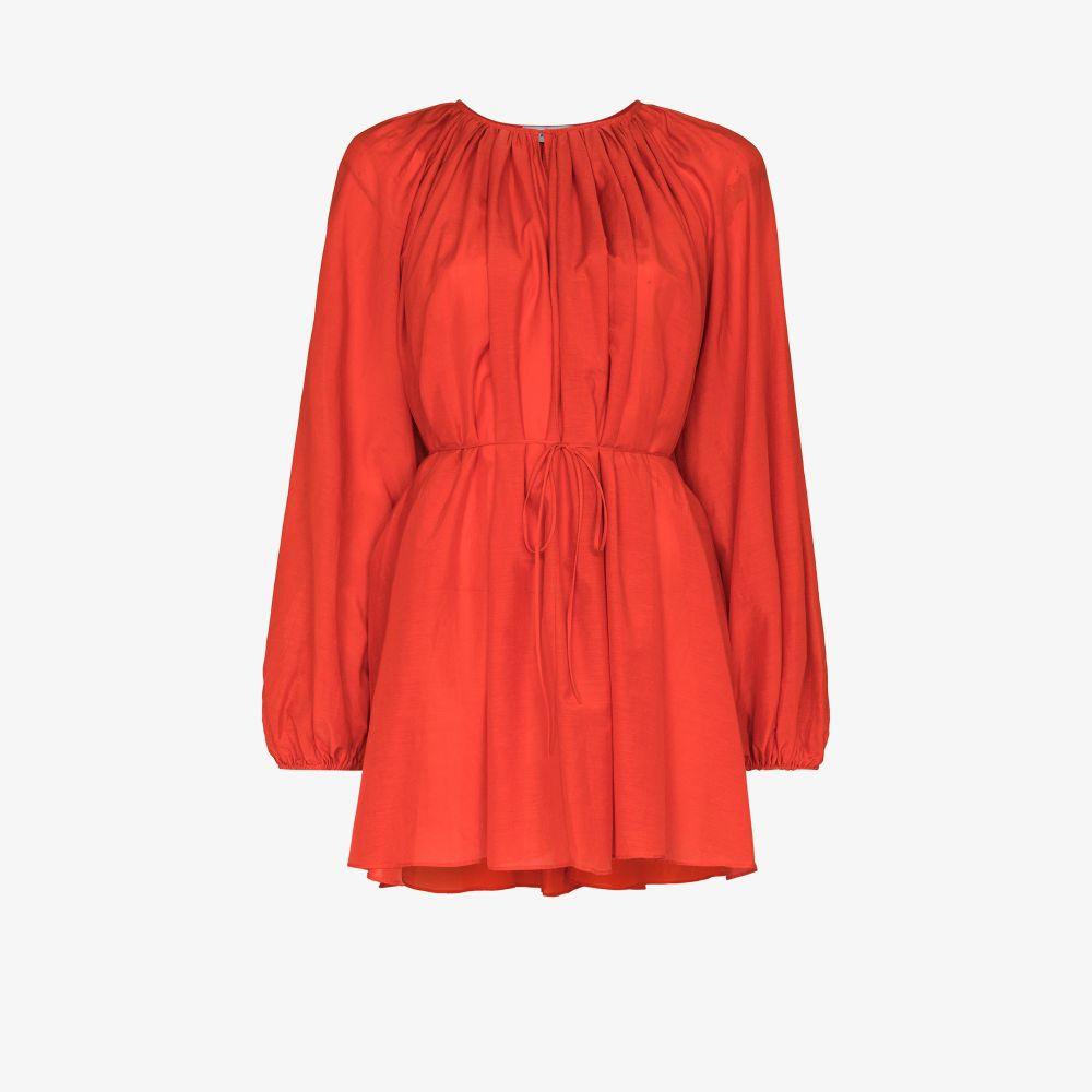 The Voluminous Belted Mini Dress