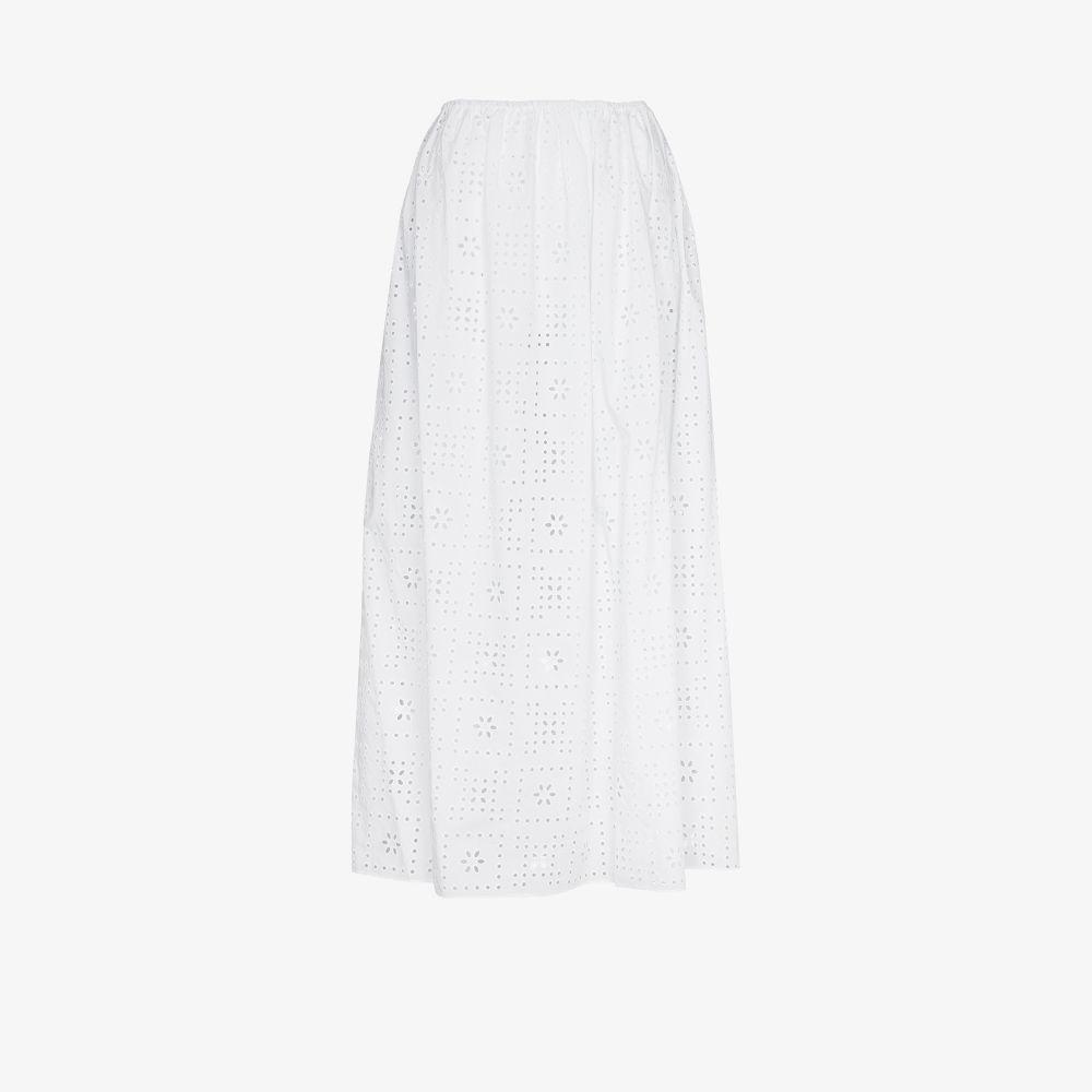 The Crochet Broderie Anglaise Maxi Skirt