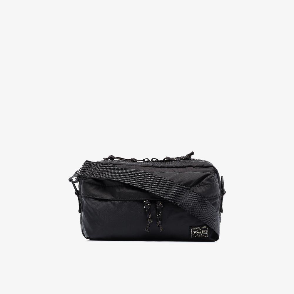 Porter-Yoshida & Co Crossbody bags BLACK LOGO PATCH CROSS BODY BAG