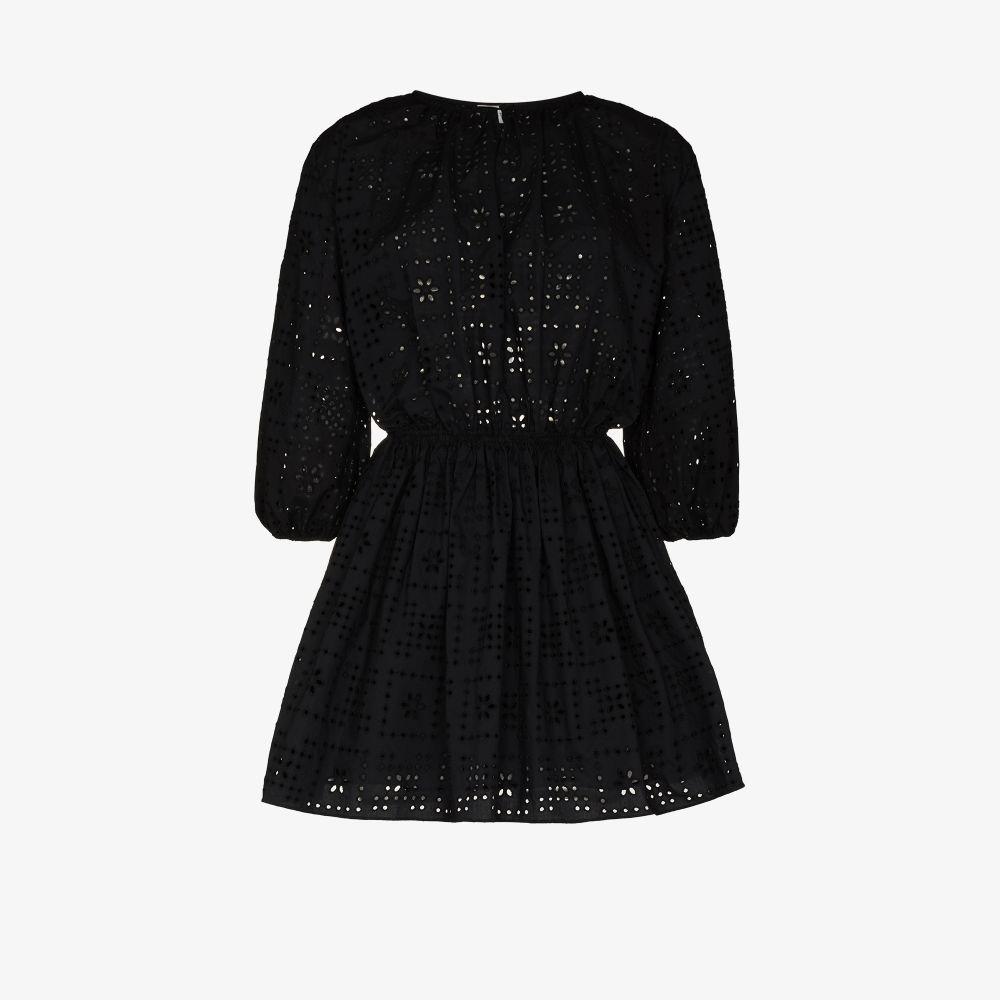 The Crochet Broderie Mini Dress