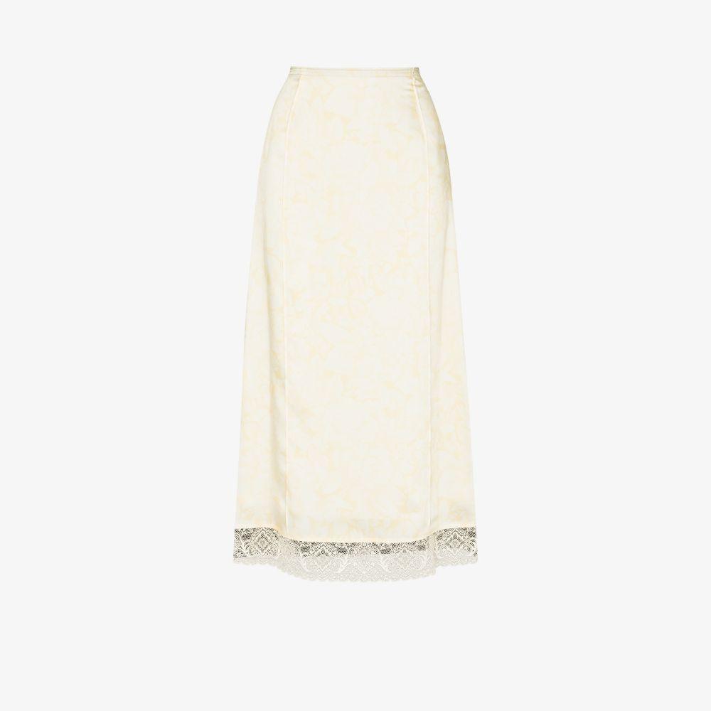 X Browns Focus Colour Block Lace Trim Skirt