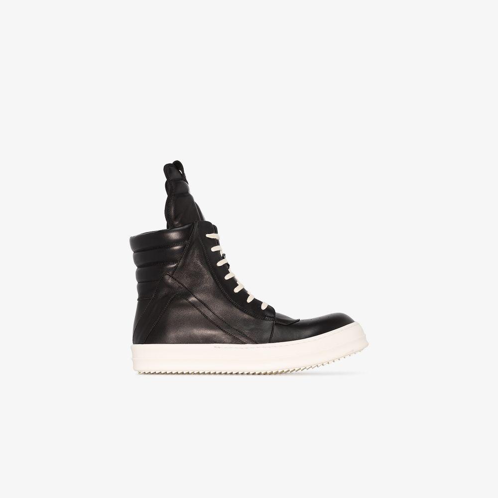 Rick Owens Sneakers BLACK GEOBASKET LEATHER SNEAKERS