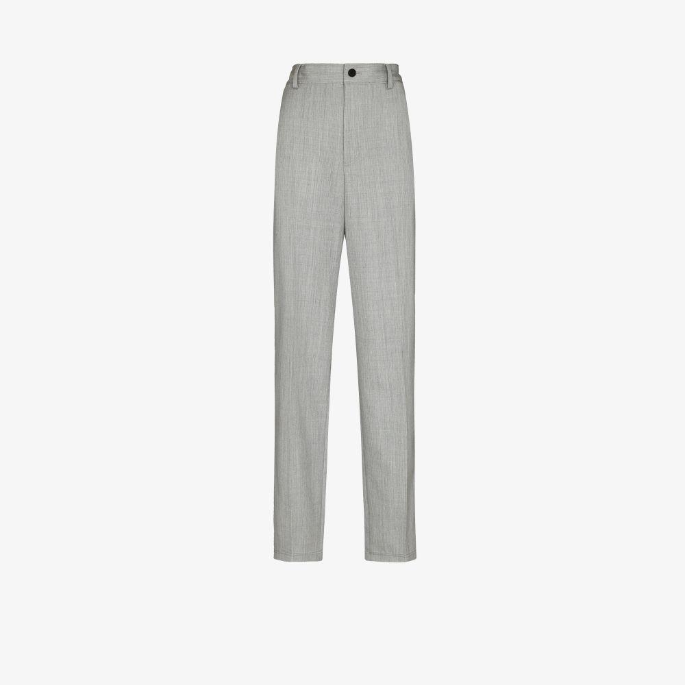 High Waist Wool Trousers