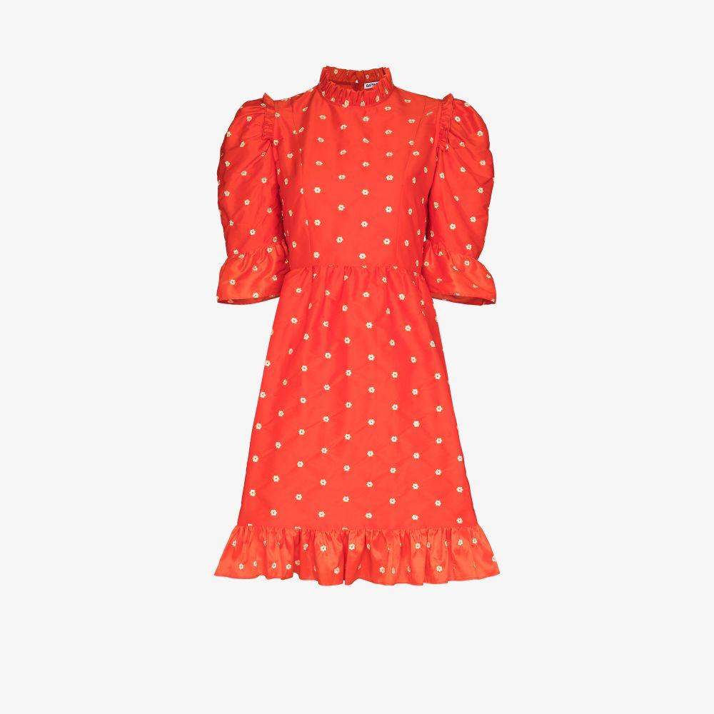 Spring Prairie Embroidered Silk Dress