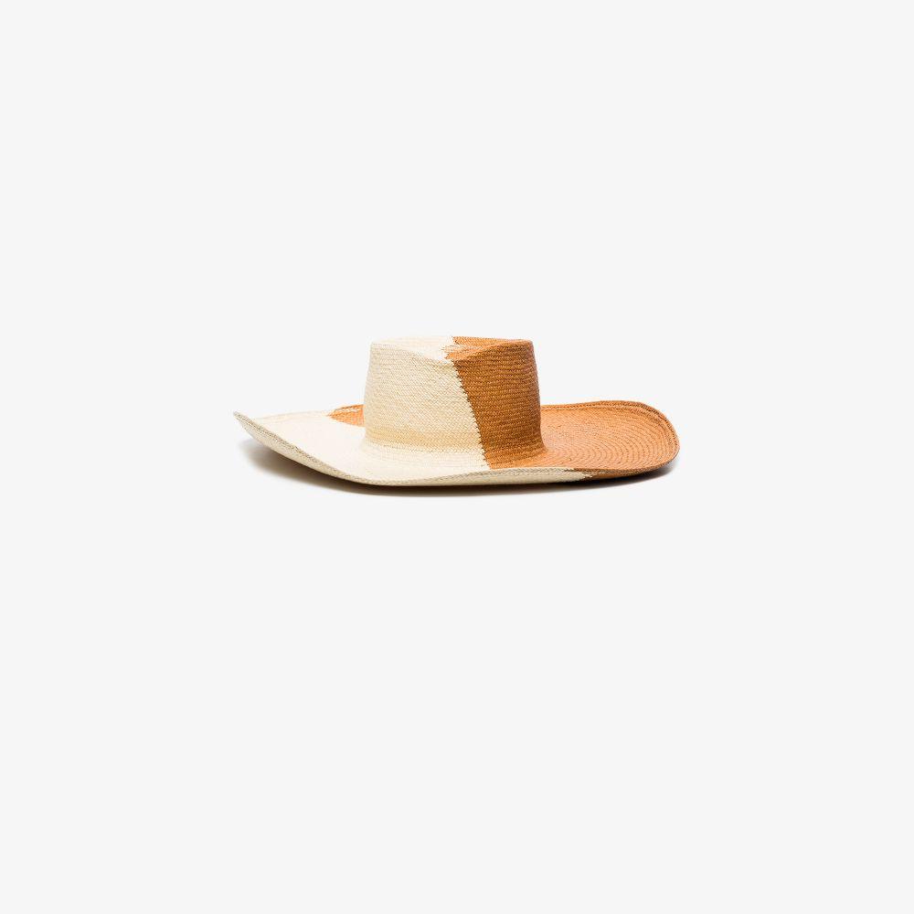 Neutral Drury Lane Panama Straw Hat