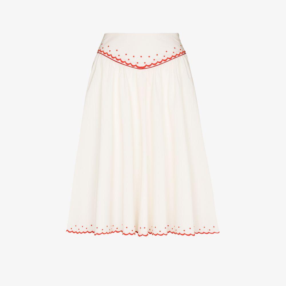 Shirley Embroidered Cotton Skirt
