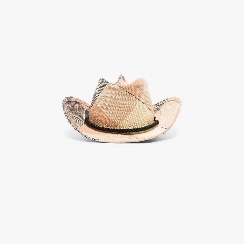 Neutral And Black Zuma Straw Panama Hat