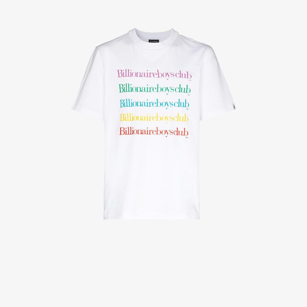 Billionaire Boys Club Cottons WHITE RAINBOW LOGO COTTON T-SHIRT