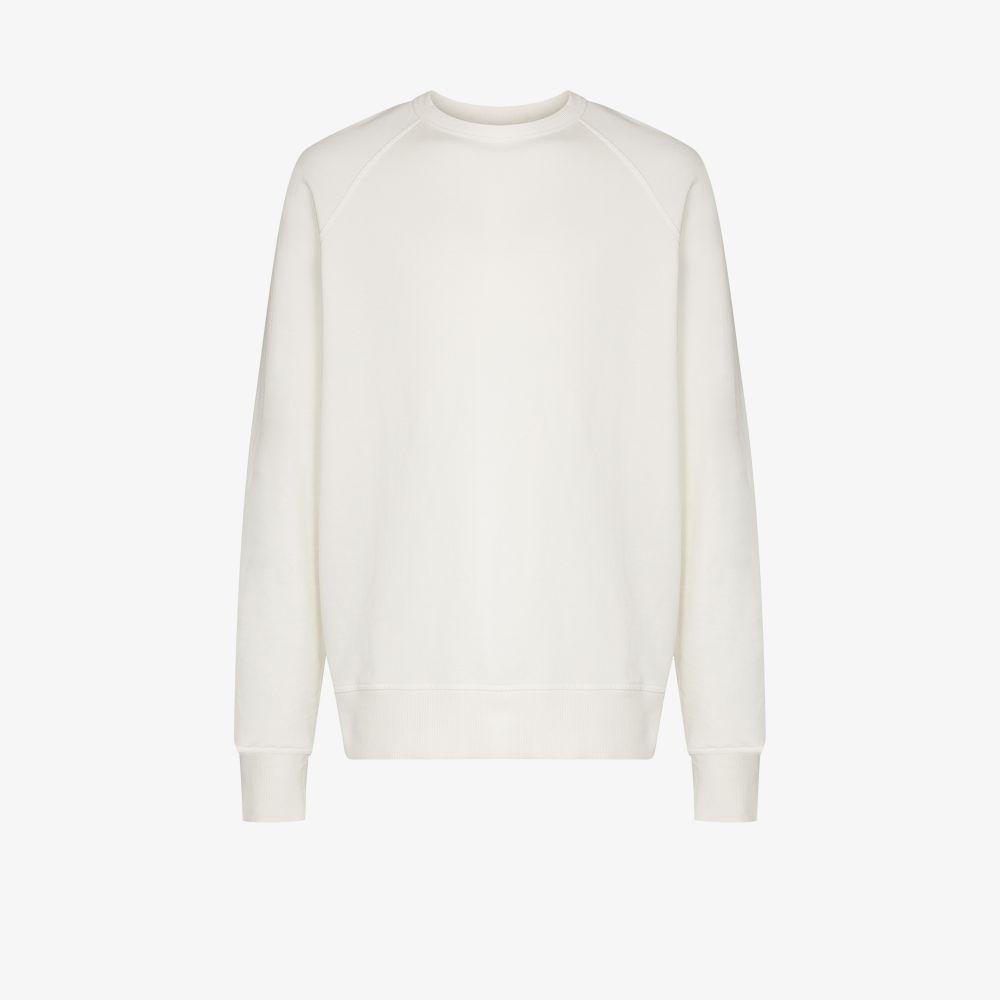 Ymc You Must Create Cottons WHITE SCHRANK COTTON SWEATSHIRT