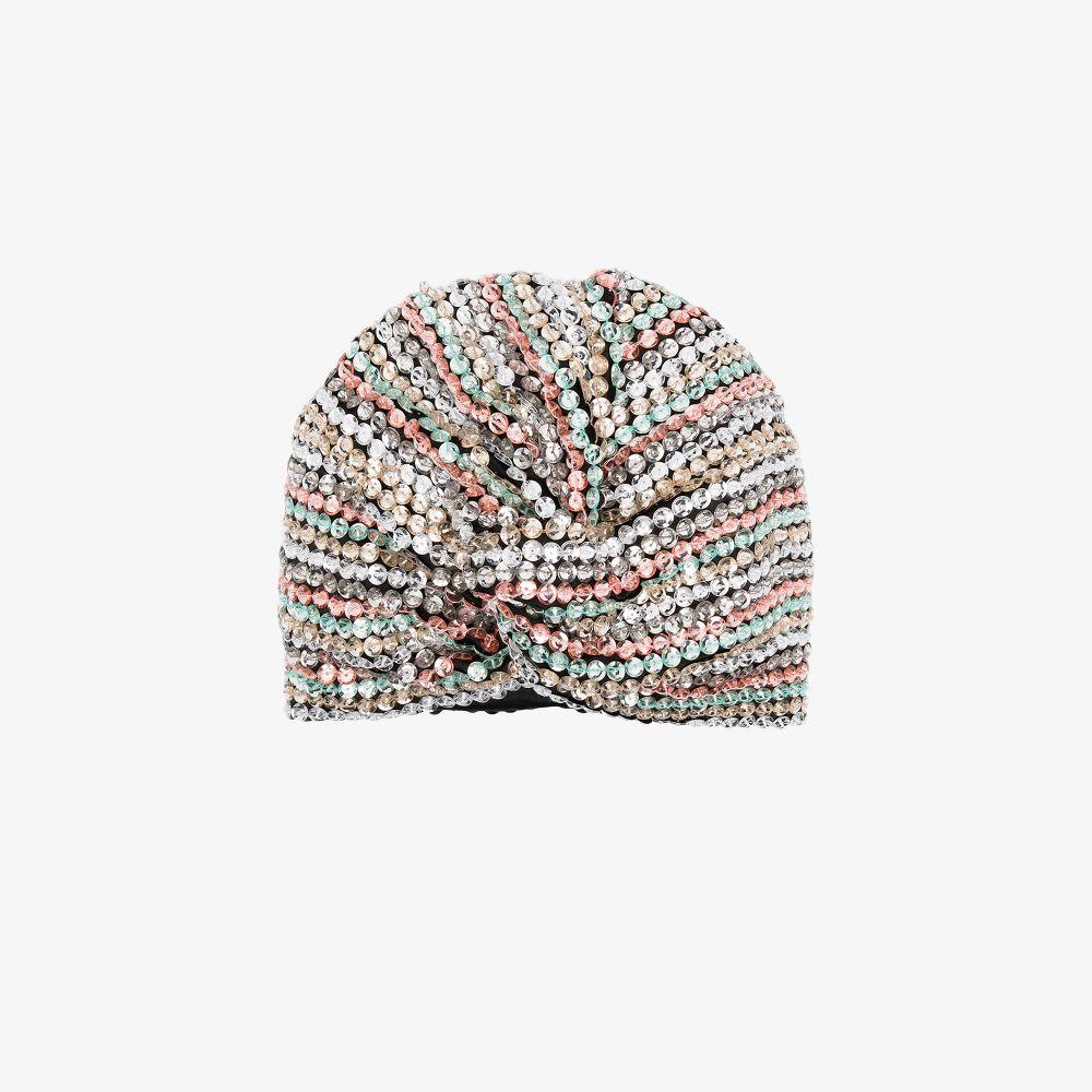 Multicoloured Malibu Sequin Turban