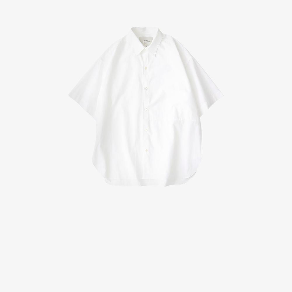 Studio Nicholson Cottons WHITE SORONO OVERSIZED COTTON SHIRT
