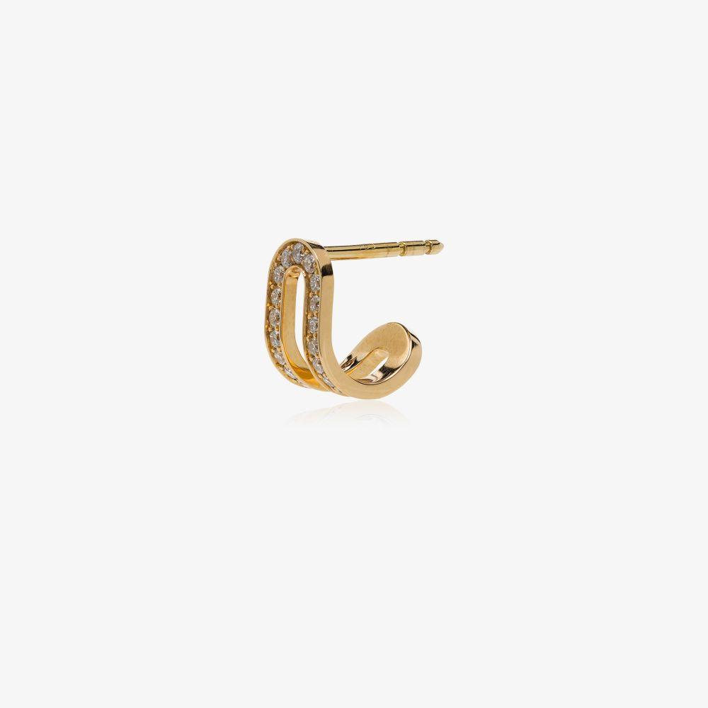 18K Yellow Gold Étreintes Diamond Earring