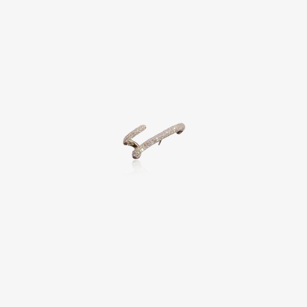 18K Yellow Gold Mono Diamond Ear Cuff