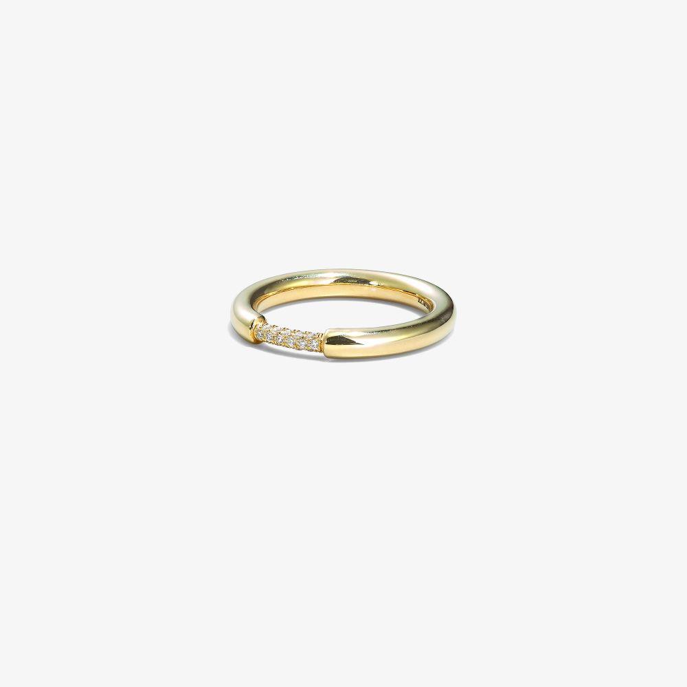 18K Yellow Gold Cerré Diamond Ring
