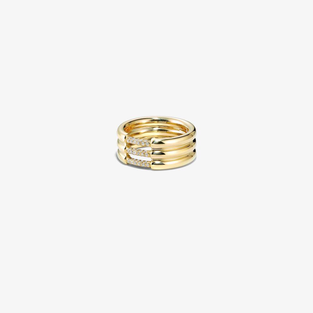 18K Yellow Gold Grande Cerré Diamond Ring