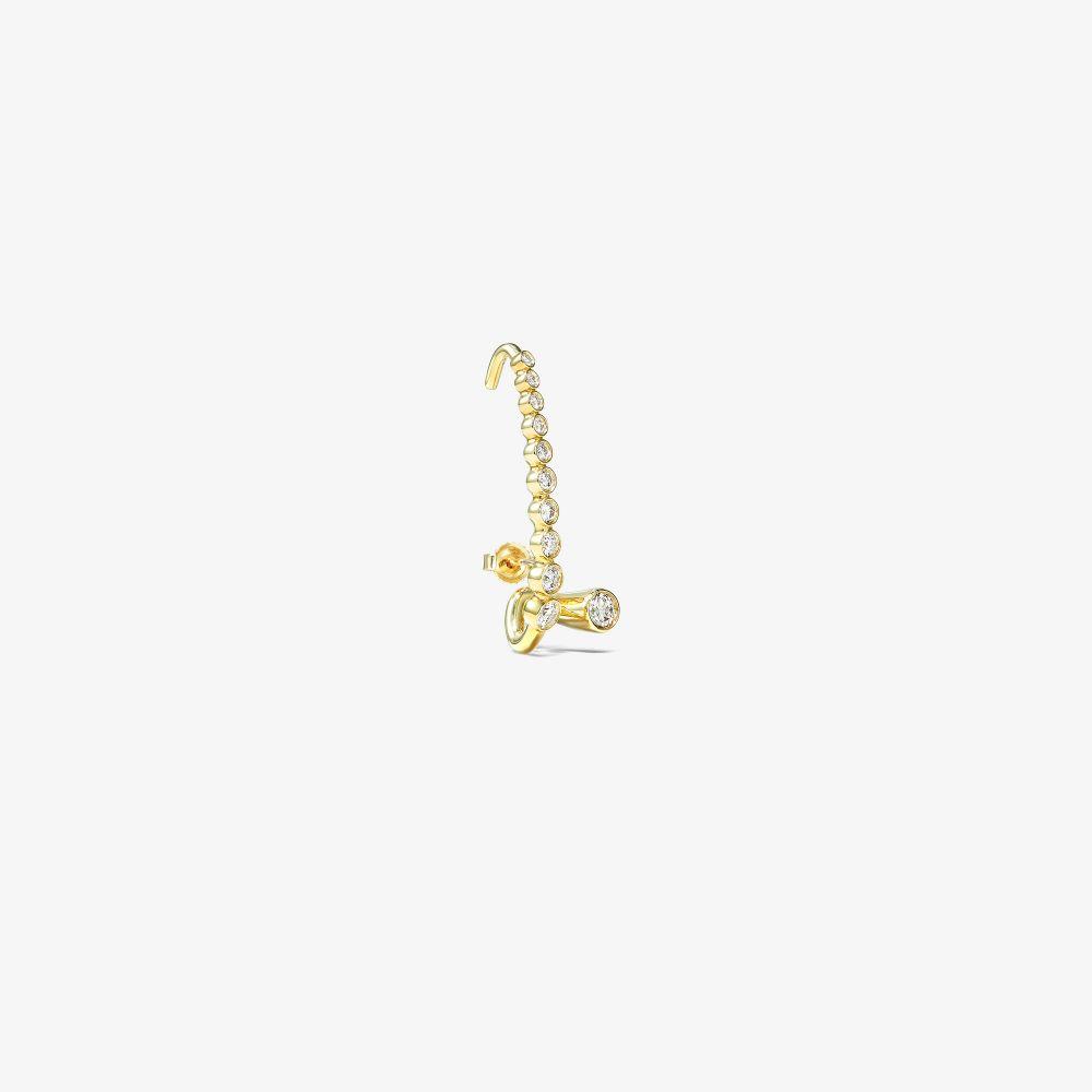 18K Yellow Gold Aurelia Diamond Earring