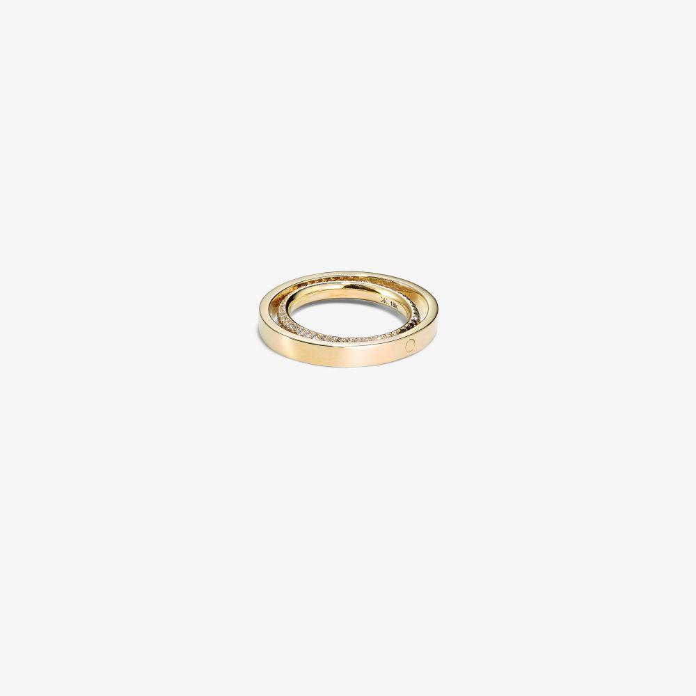 18K Yellow Gold Echo Diamond Ring