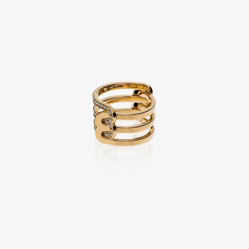 18K Yellow Gold Étreintes Diamond Ring