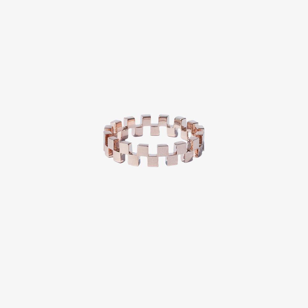 18K Rose Gold Anerise Diamond Ring