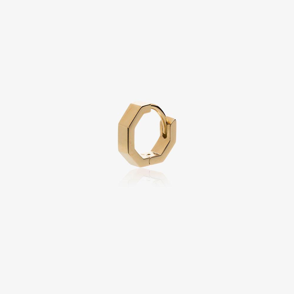 18K Yellow Gold Octogone Earring