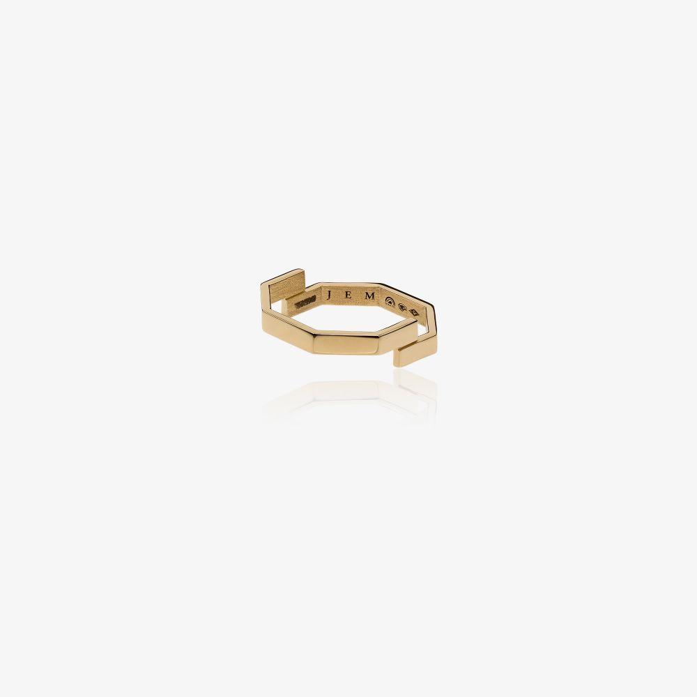 18K Yellow Gold Octogone Ring