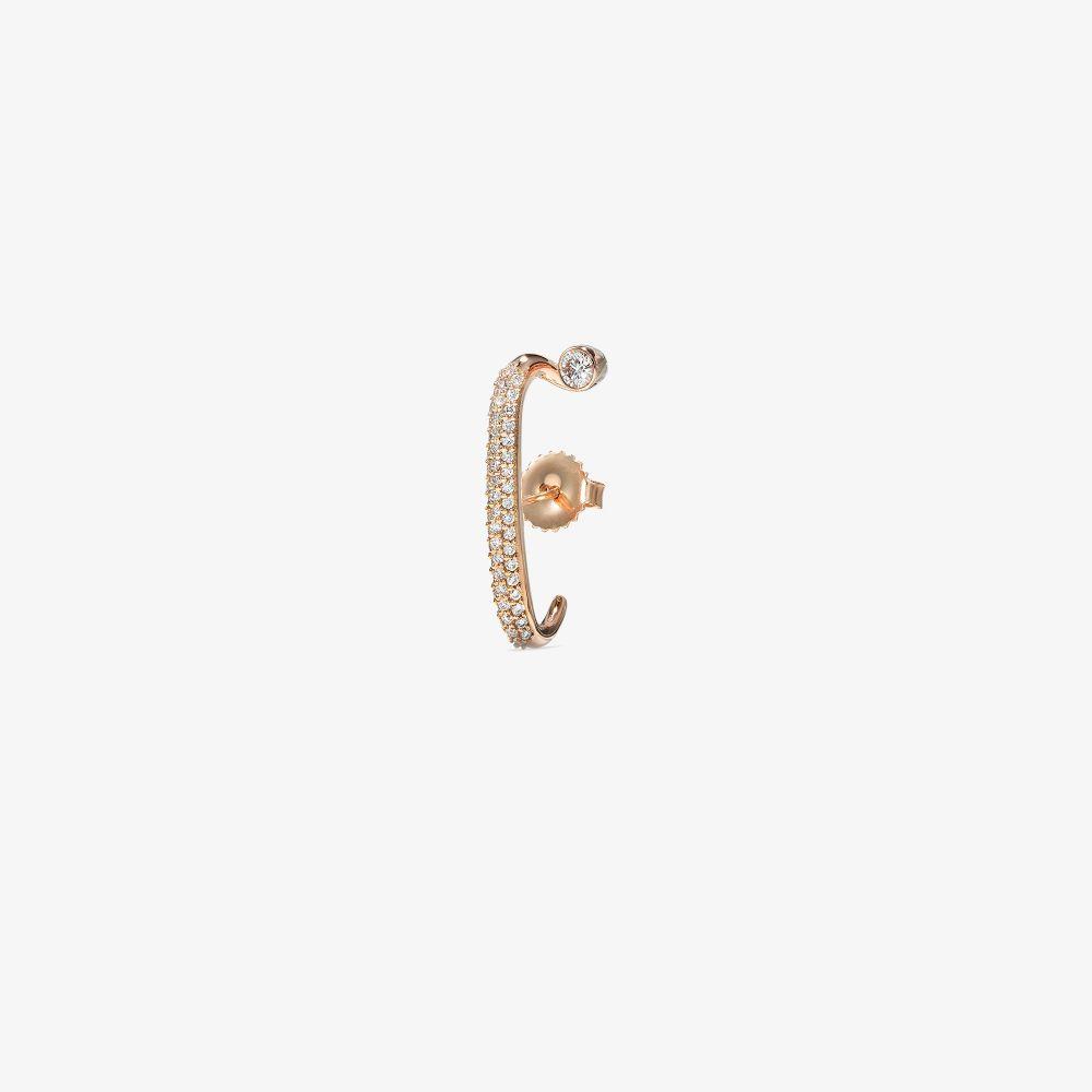 18K Rose Gold Arena Diamond Earring